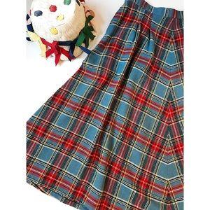 Vintage 1950's Plaid Wool Skirt